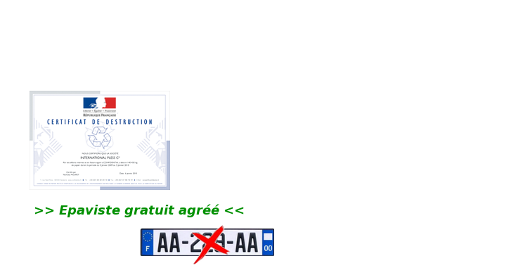 certificat de destruction